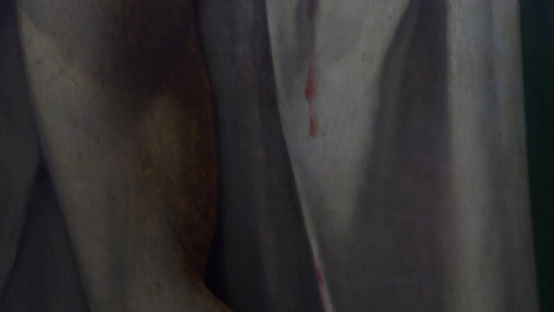 Detalle de La muerte de Marat.